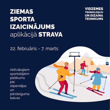 Ziemas sporta veida izaicinājums aplikācijā STRAVA