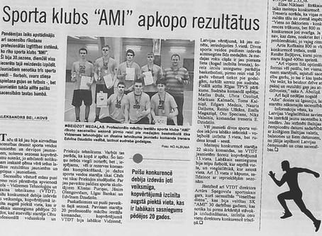 "Sporta klubs ""AMI"" apkopo rezultātus"