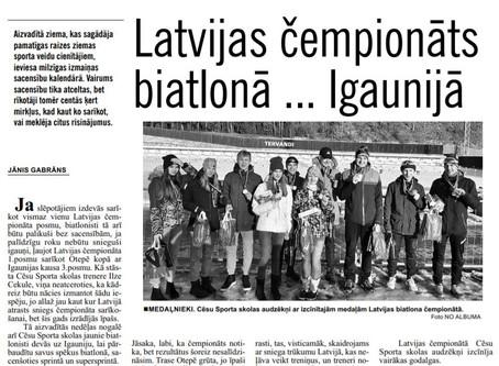 Latvijas čempionāts biatlonā ... Igaunijā