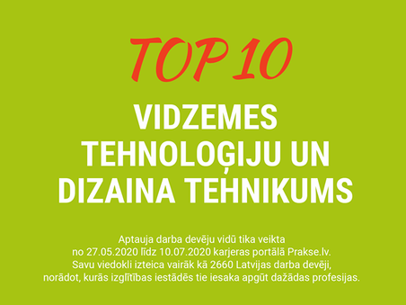 VTDT profesionālo skolu TOP 10