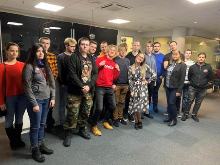 Nākamie programmētāji apmeklē IT uzņēmumu Tieto Latvia