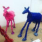 Student work inspired by Deborah Butterf