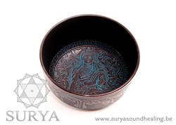 Blauwe Klankschaal Boeddha