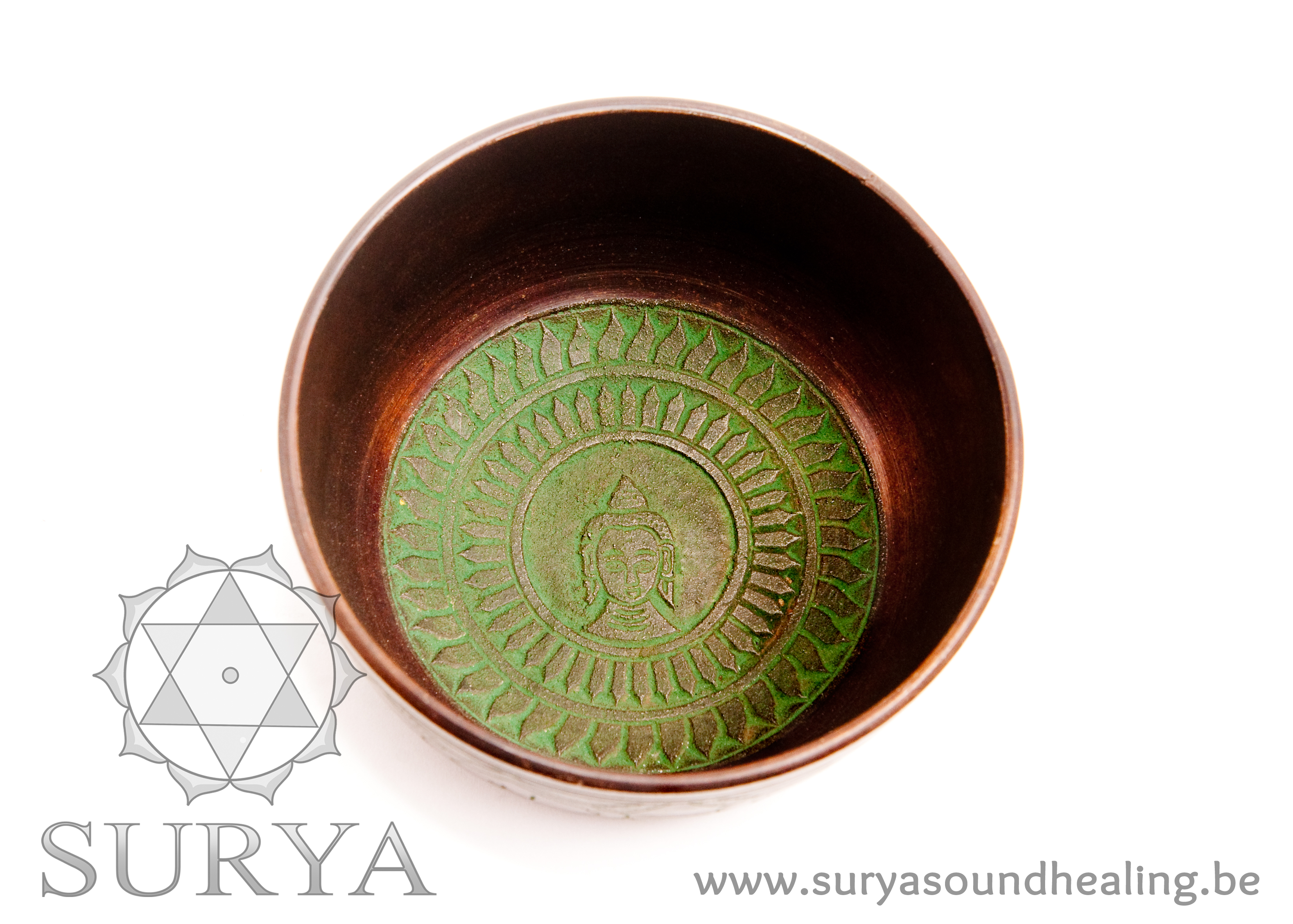 Groene Klankschaal Boeddha