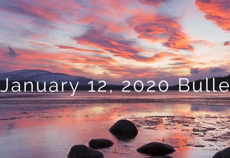 January 12, 2020 Bulletin