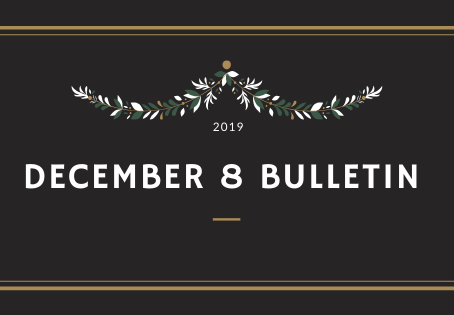 December 8 Bulletin