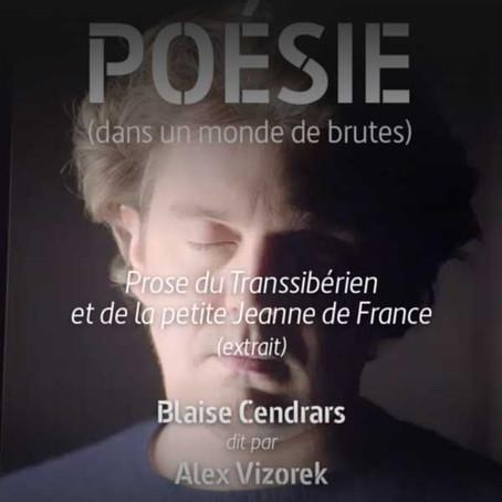 """Alex Vizorek lit un extrait de la """"Prose du Transsibérien"""" de Blaise Cendrars"""