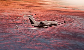 Private jet flying over a sunset sky.jpg