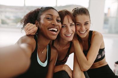 fitness Friends Taking Selfie