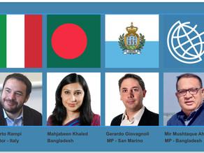 Key progress in Italy, Bangladesh and San Marino