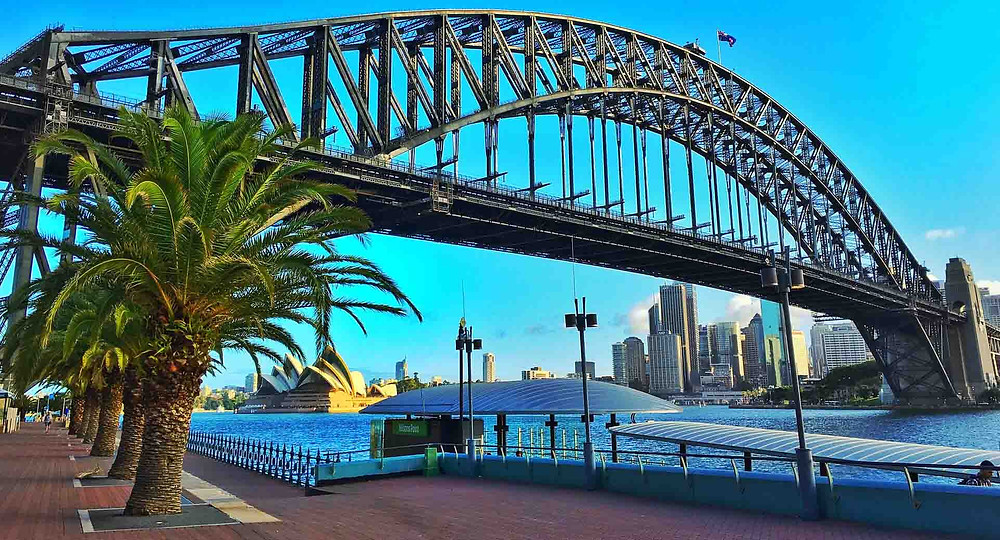 Sydney Harbour Bridge - View from Milsons Point Wharf