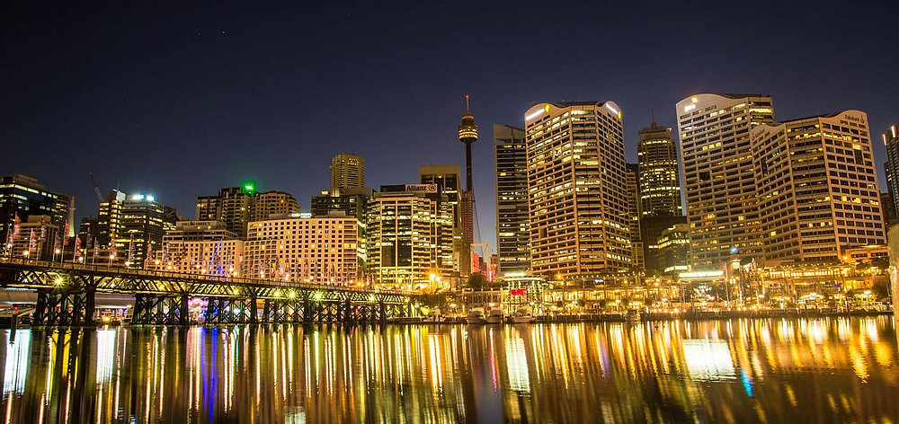 Darling Harbour in the night