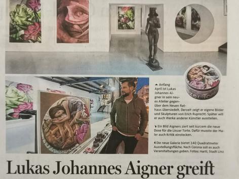 Lukas Johannes Aigner greift wieder zu Pinsel und Farbe