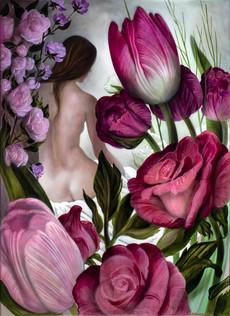"Lukas Johannes Aigner, ""peint par les fleurs""-durch die Blumen gemalt,"