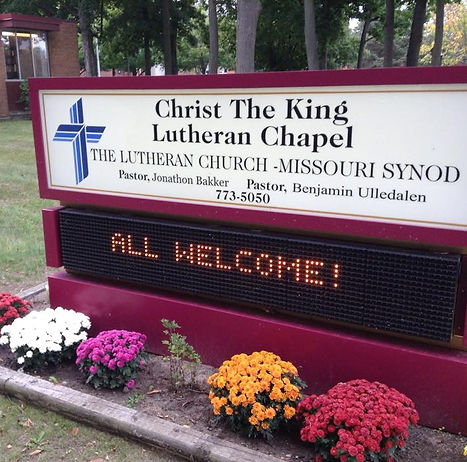 Everyone is welcome at Christ The King Lutheran Chapel!