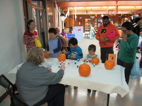 painting a pumpkin 2