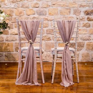 Dusky Pink Chiffon Chair Sashes