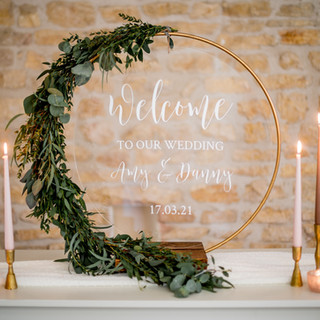 Personalised Perspex Welcome Sign