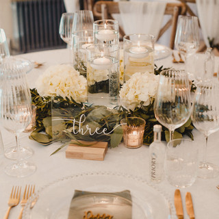 Glass cylinder Vases with Floating Candles