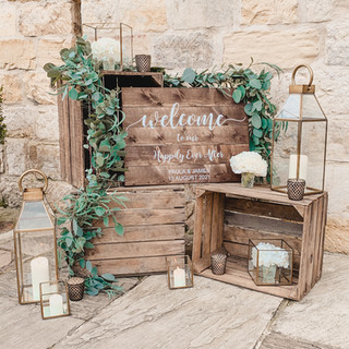 Personalised Rustic Welcome Sign