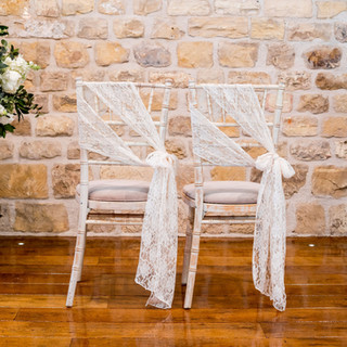Ivory Lace Chair Sashes