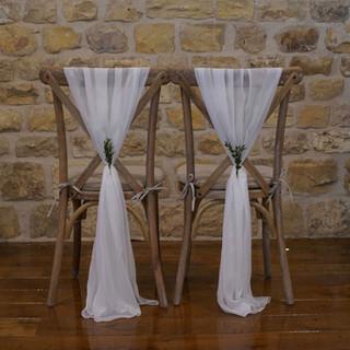 Ivory Chiffon Chair Sashes
