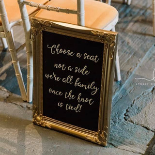 Chalkboard Personalised Sign