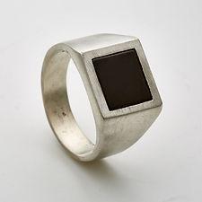 Gal Barash Black square Onyx Ring 1.jpg