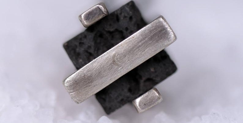 Double Silver Square Lava