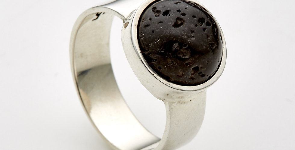 Lava Cup Cake Silver Ring