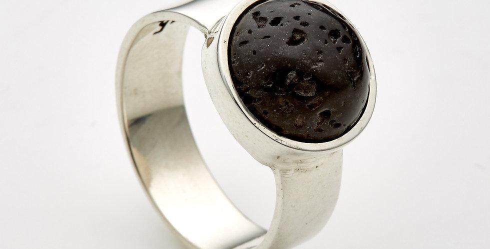 Lava Cupcake Silver Ring