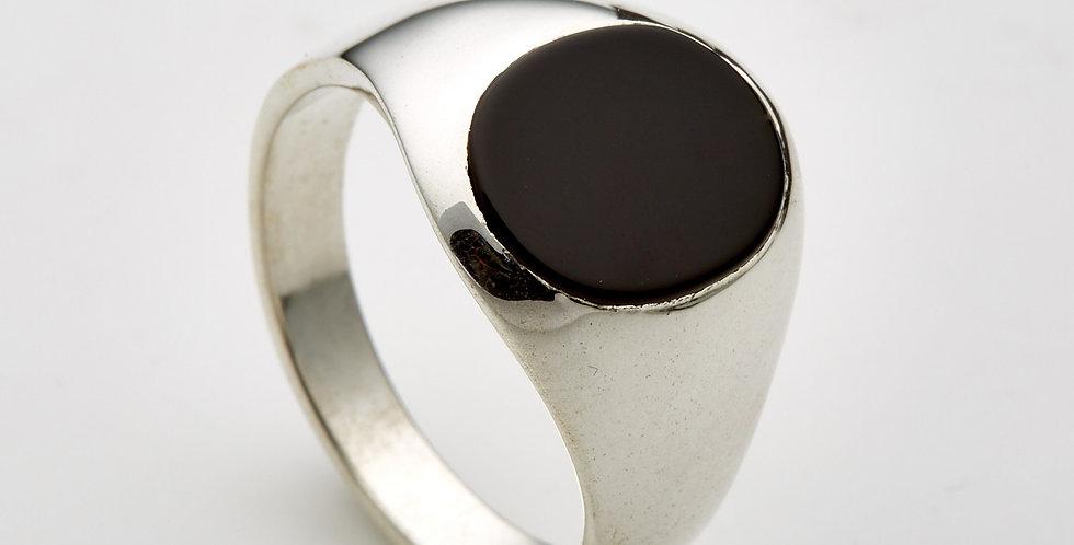 Oval Onyx-Silver