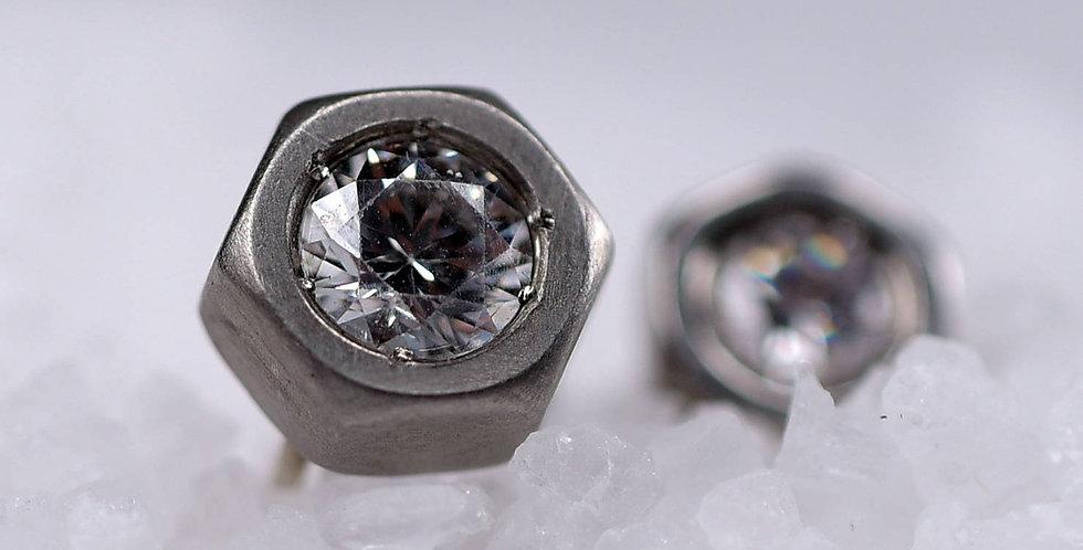 Nut Diamond Stud Earring
