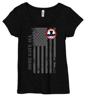 LADIES HOF Tshirt - Vertical Flag Design