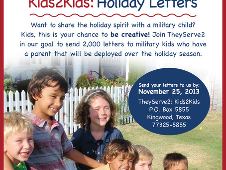 Kids2Kids Holiday Letters