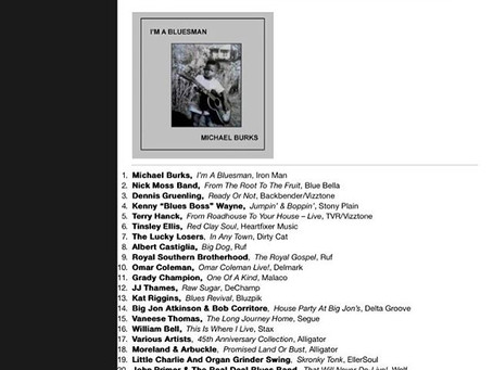 Blueberries & Grits Hits the Living Blues Chart