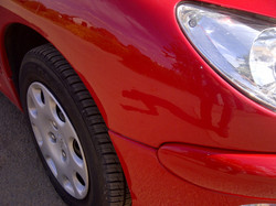 Peugeot 206 Car body repair, plastic bum