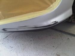 Peugeot 308 Car body repair, plastic bum