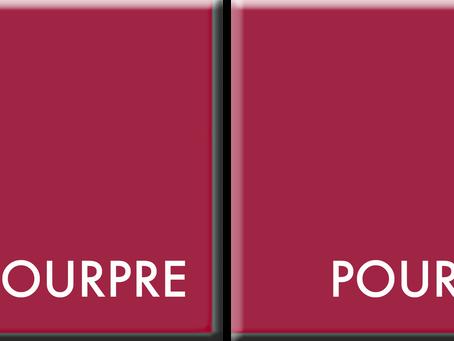 POURPRE-POURPRE: couleurs du jour du 22 au 26 mars