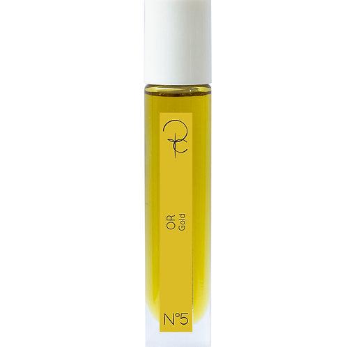 Extrait de couleur n°5 OR, flacon roll on 15ml