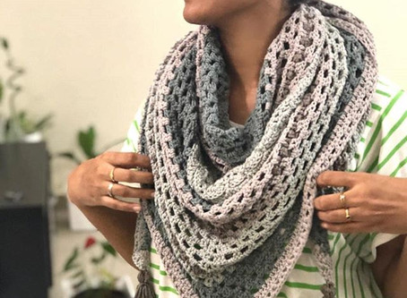 Earth Triangular Shawl