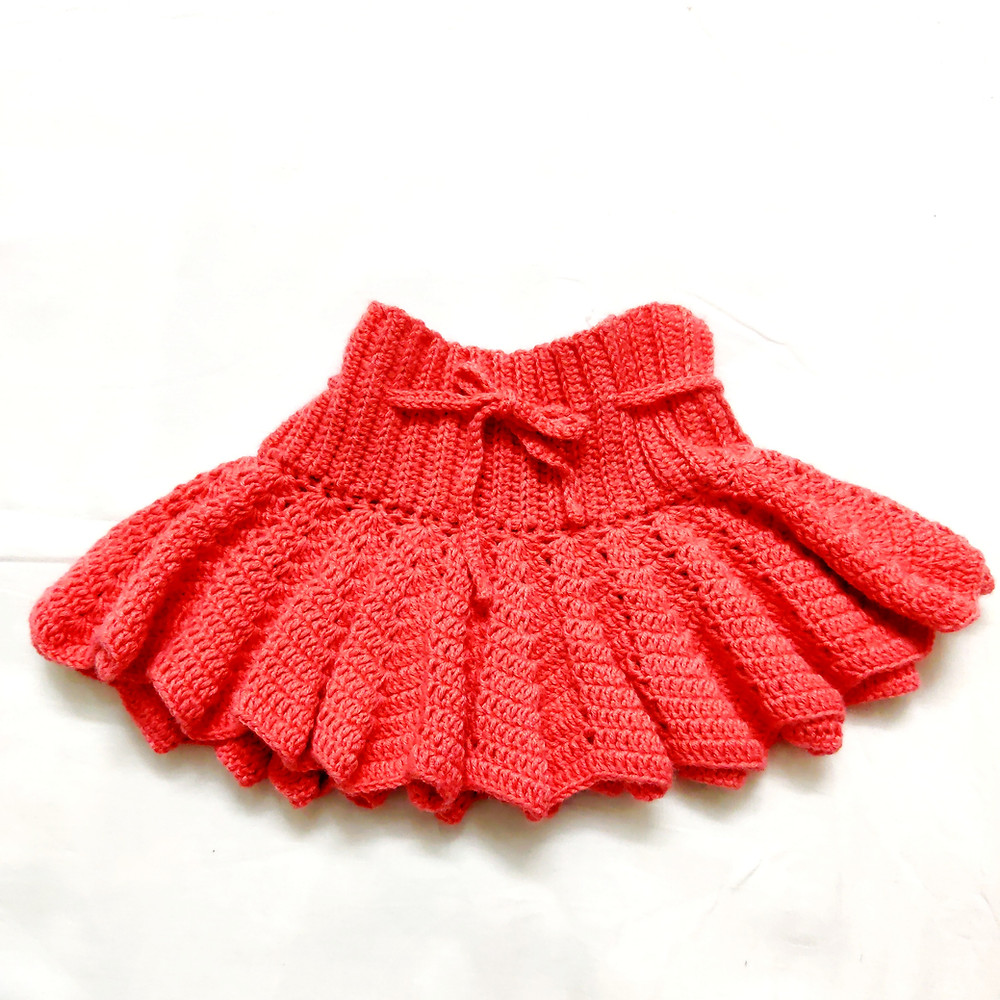 Coral Flared Baby Skirt | Crochet Skirt