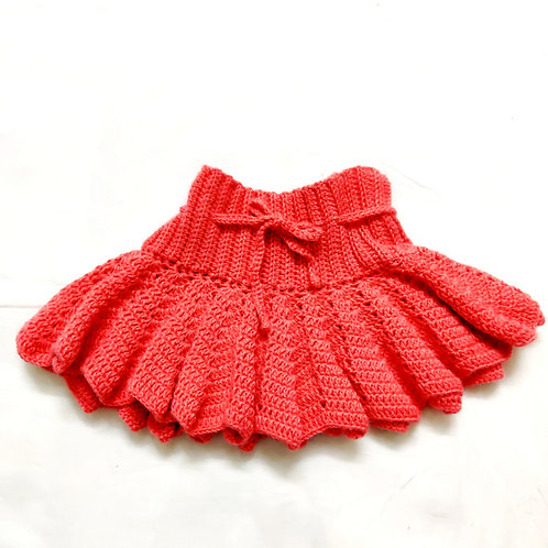 Coral Flared Baby Skirt