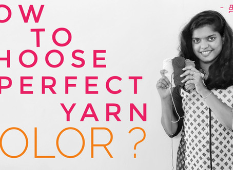 How to choose perfect yarn color for crochet / knitting?