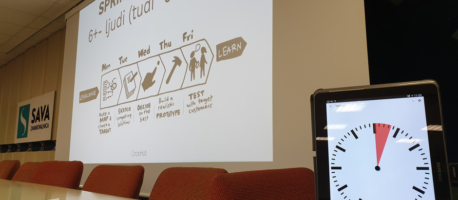 Design Sprint je trenutek resnice marsičesa.