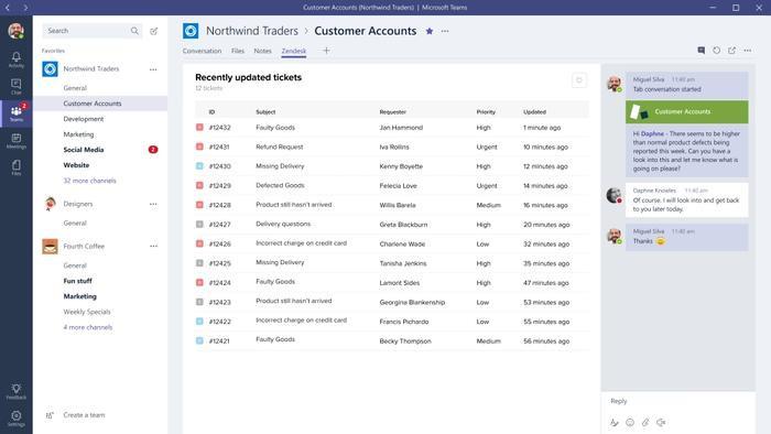 Microsoft Teams permet l'intégration de solutions tierces