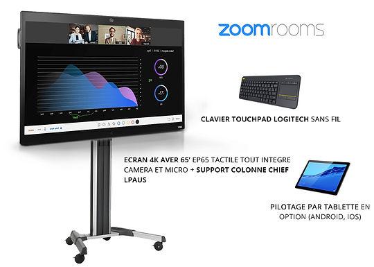 Pack de visioconférence Zoom Rooms 10 - 20 personnes