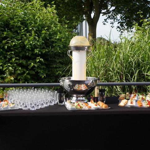 Cocktail dinatoire en extérieur