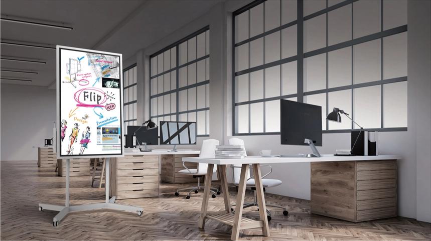 paperboard, tableau blanc interactif, samsung flip, écran interactif