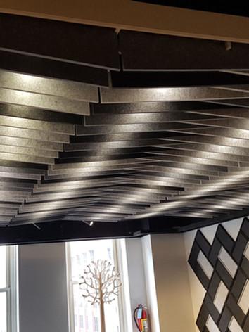 Toile acoustique plafond mur